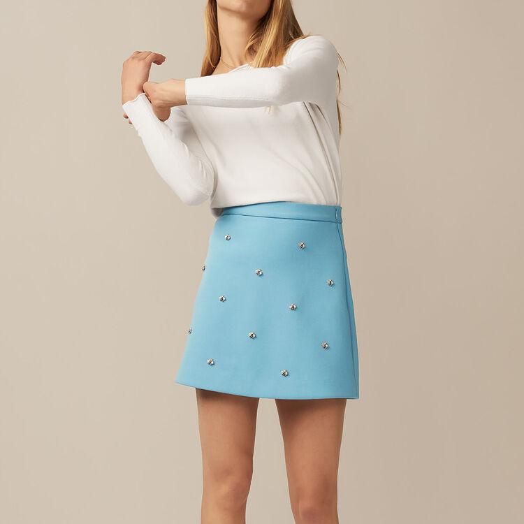 Pullover mit Rückenausschnitt : Strickwaren farbe Ecru