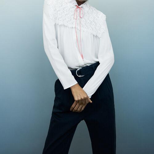 Lace shirt : Hemden farbe Ecru