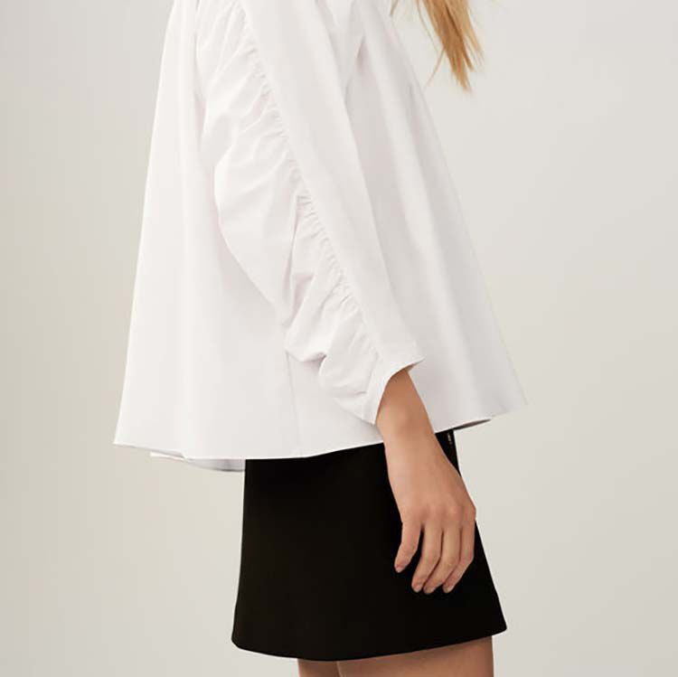 Oversize-Bluse mit Raffung : Tops farbe Weiss