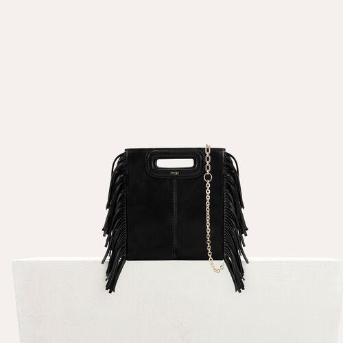 M mini Tasche aus Veloursleder mit kette : M Tasche farbe Schwarz