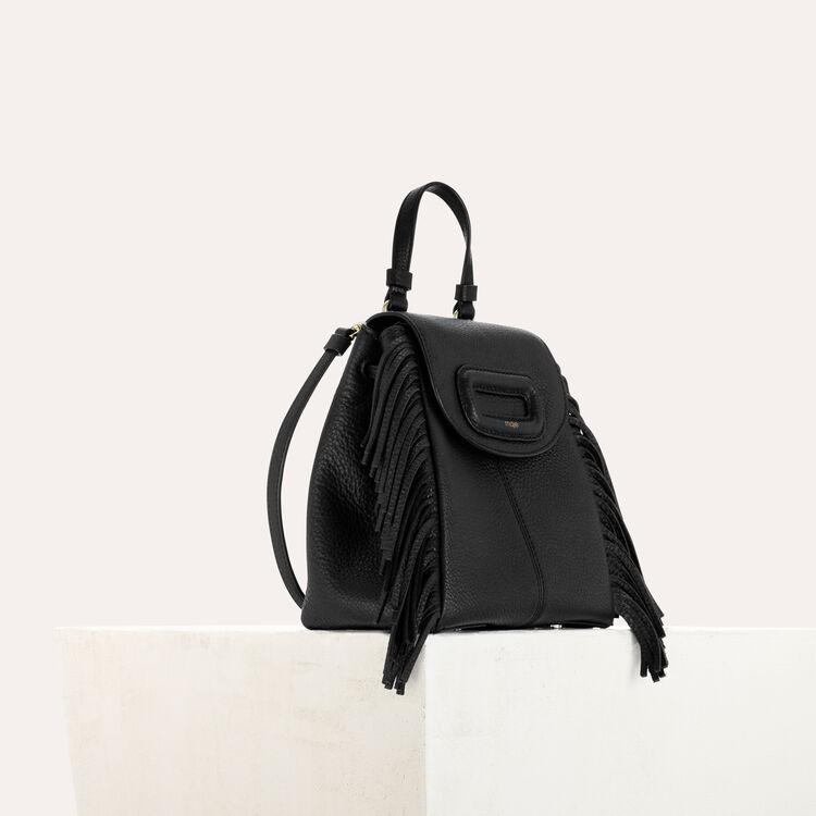 M Mini Rucksack mit Kette aus Leder : M Back farbe Schwarz