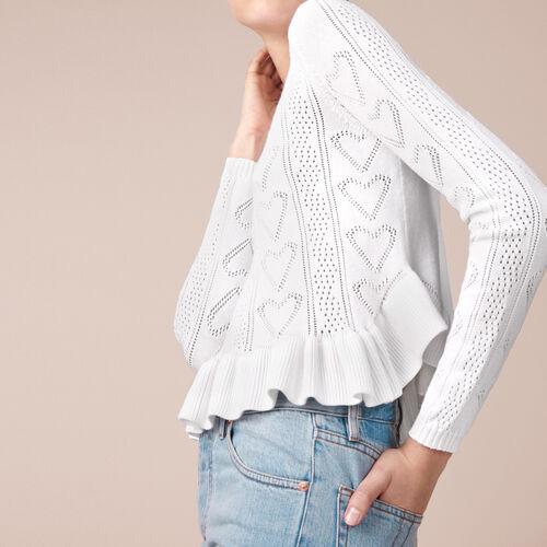 Pullover aus Jacquardstrick mit Volants - Pullover und Cardigans - MAJE