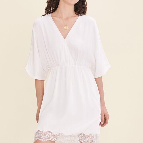 Fließendes Kleid aus Crêpe - Kleider - MAJE