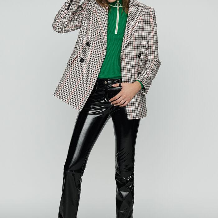 Karierter Blazer aus Mischwolle : Blazers farbe CARREAUX