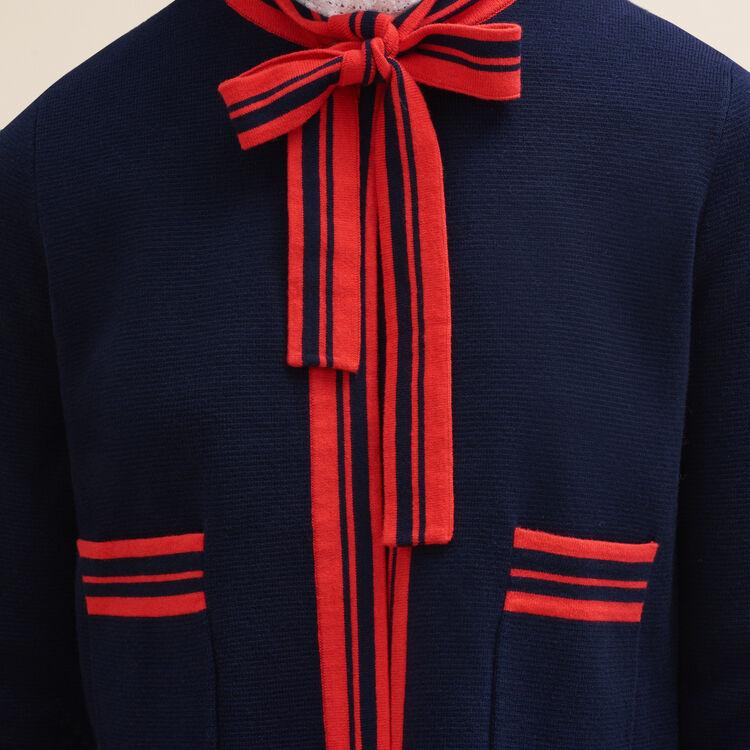 Kurzer, zweifarbiger Cardigan : Pulls & Cardigans farbe Marineblau