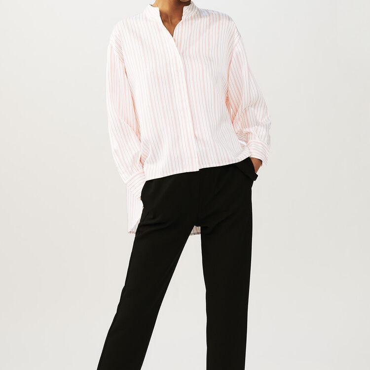 Oversize-Hemd mit Streifen : Hemden farbe Gestreift