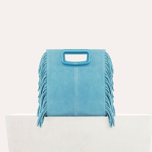 M-Tasche aus Wildleder : M Tasche farbe Blau