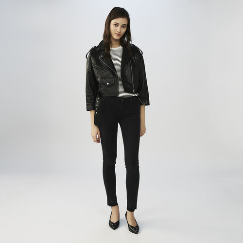 Skinny jeans aus stretchbauwolle : Hosen farbe Anthrazit