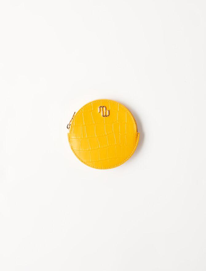 Portemonnaie-Gürtel aus geprägtem Leder -  - MAJE