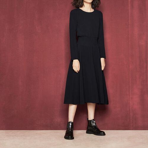 Langes Kleid mit Smokarbeiten : Kleider farbe Rosa