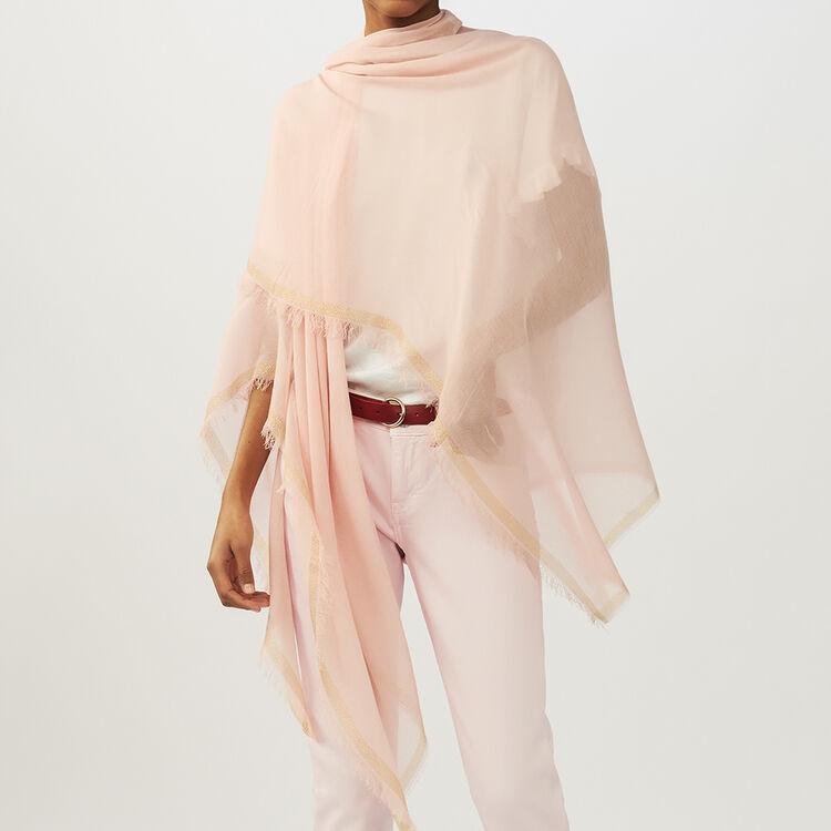 Poncho mit Lurexstreifen : Schals & Ponchos farbe Rosa