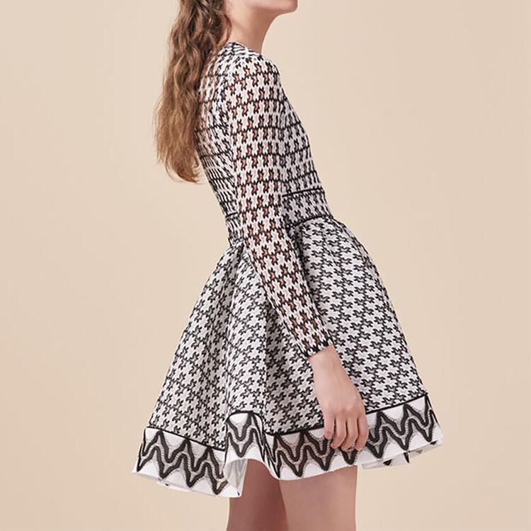 Zweifarbiges Skaterkleid aus Spitze : Kleider farbe Zweifarbig