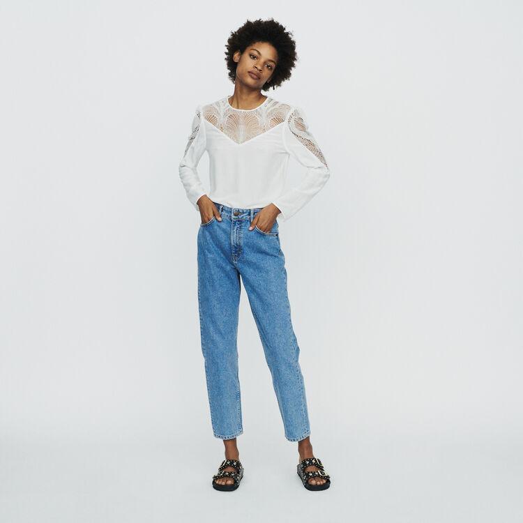 Spitzen-Top : Tops & Hemden farbe Weiss