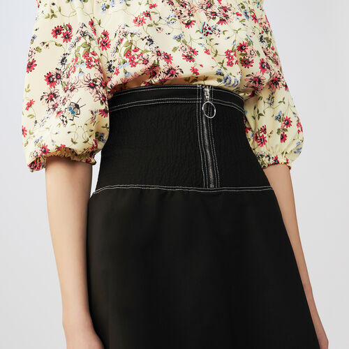 Kurzer gesmokter Rock : Röcke & Shorts farbe Schwarz