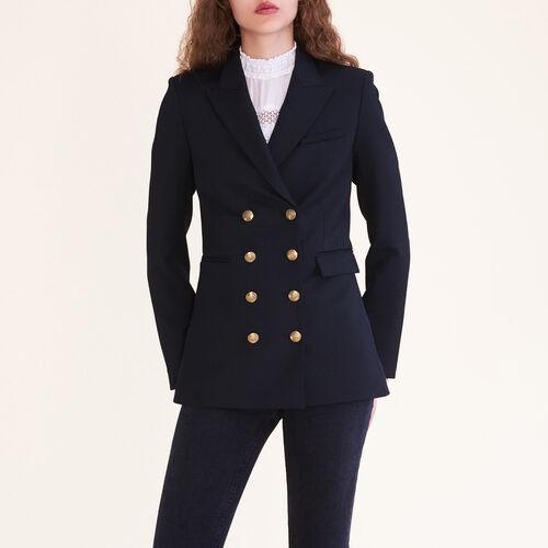 Zweireihige Jacke mit acht Knöpfen : Blousons & Vestes farbe Schwarz