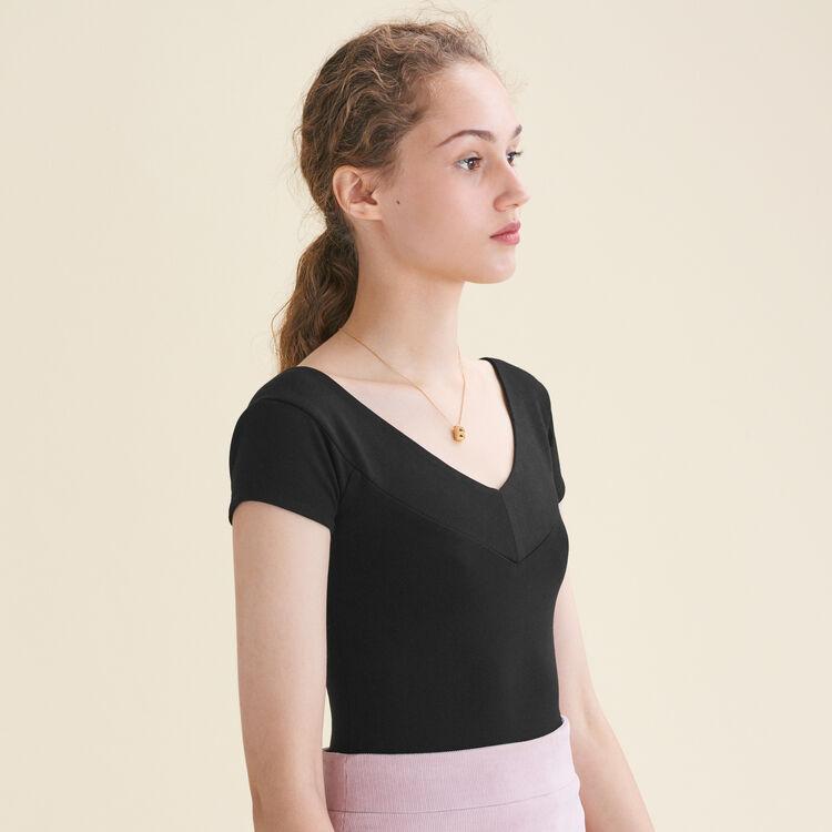 Body mit kurzen Ärmeln : T-Shirts farbe Schwarz