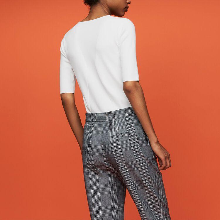 Feiner Pullover mit kurzen Ärmeln : Neue Kollektion farbe Weiss