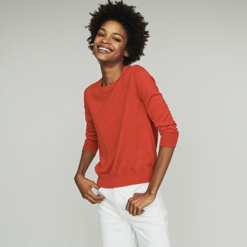 Pullover mit Halsausschnitt : Pullover & Strickjacken farbe Rot