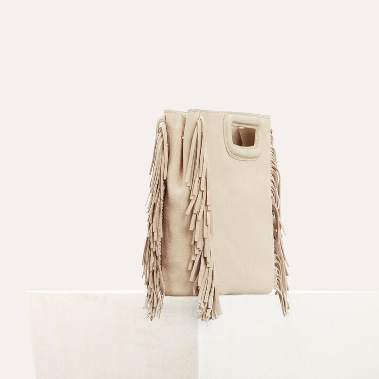 M-Tasche aus Wildleder : M Tasche farbe Beige