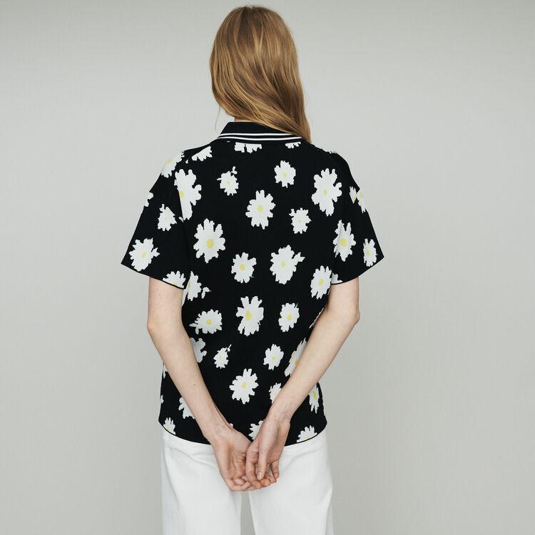 Jacquard-Pullover mit Margariten-Print : Pullover & Strickjacken farbe Jacquard