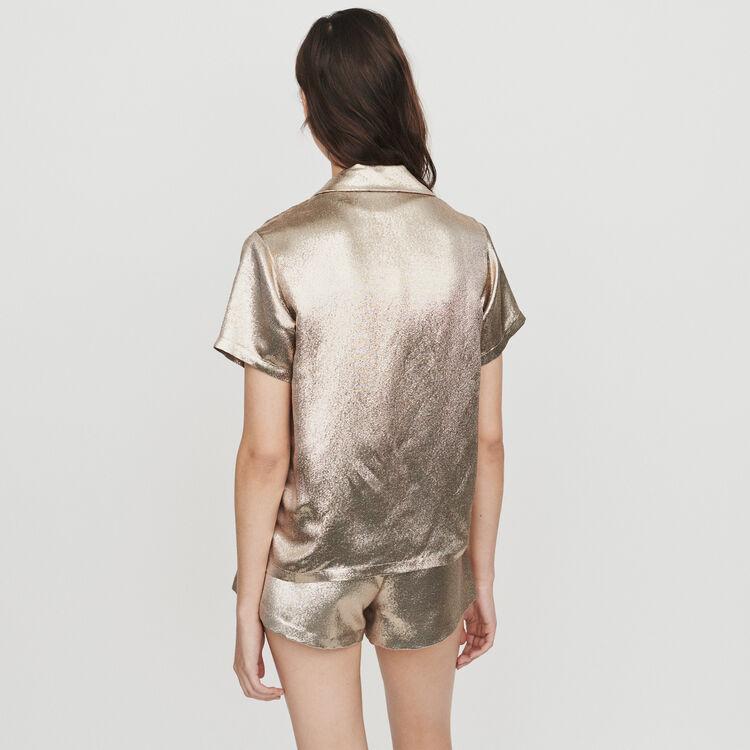 Seiden Bluse im Pyjama Look : Tops & Hemden farbe Gold