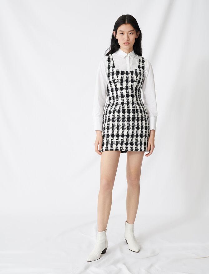 Ärmelloses Kleid im Tweed-Stil - Kleider - MAJE