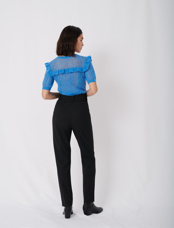 Pantalon carotte avec ceinture - Hosen & Jeans - MAJE