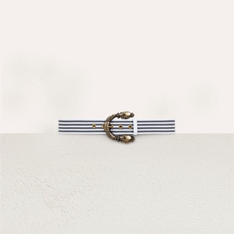 Striped belt : Gürtel farbe Grau