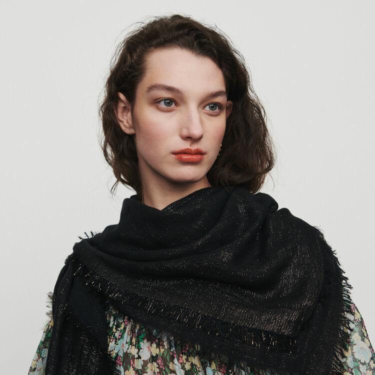 Schal mit M Motif aus Lurex : New in : Sommer Kollektion farbe  Off-White