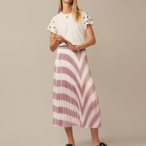 Falda larga plisada : Röcke & Shorts farbe LILA