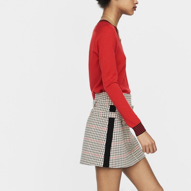 Feiner Pullover aus Merinowolle : Strickwaren farbe Rot