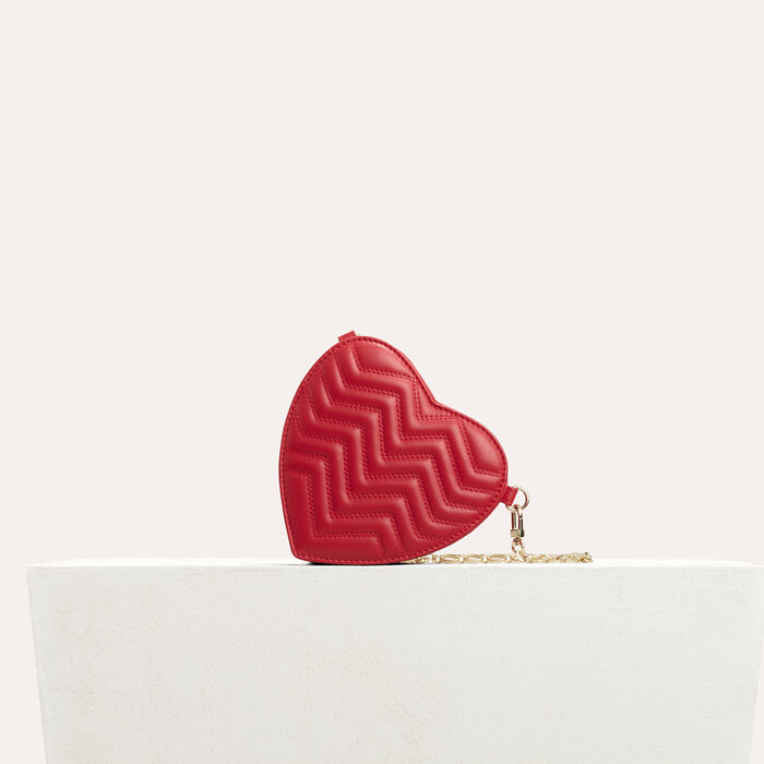 Gesteppte Umhängetasche aus Leder : Tout voir farbe Rot