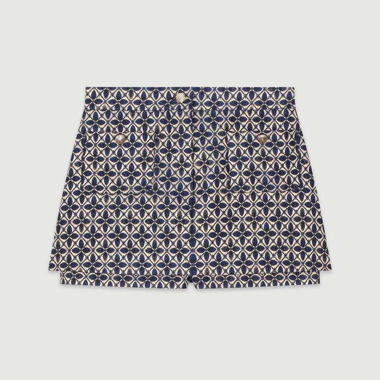 Trompe-l'œil Shorts aus Jacquard : Röcke & Shorts farbe Jacquard