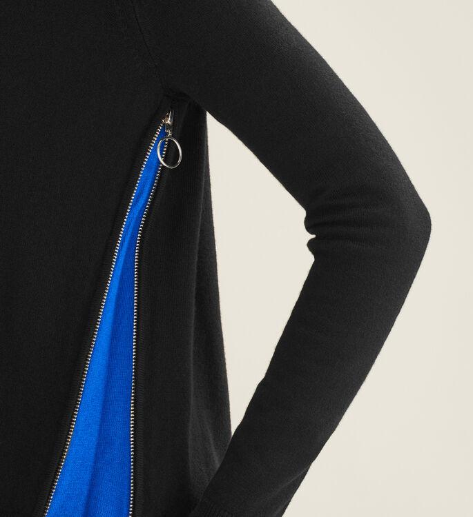 Cárdigan con cremallera a los lados : Pulls & Cardigans farbe Schwarz