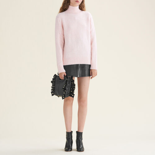 Pullover mit Stehkragen : Strickwaren farbe Ecru