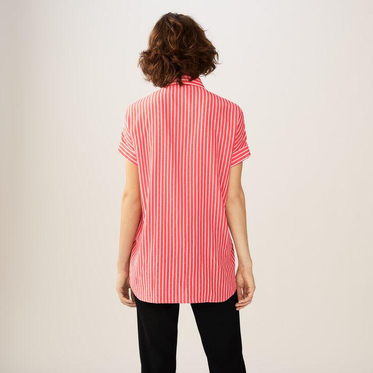 Gestreiftes Hemd mit Lavallière : Hemden farbe Gestreift
