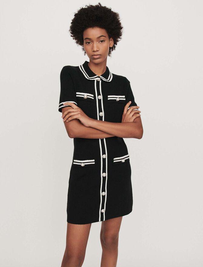 Gerades Kleid mit Schmuck-Besatz - Kleider - MAJE
