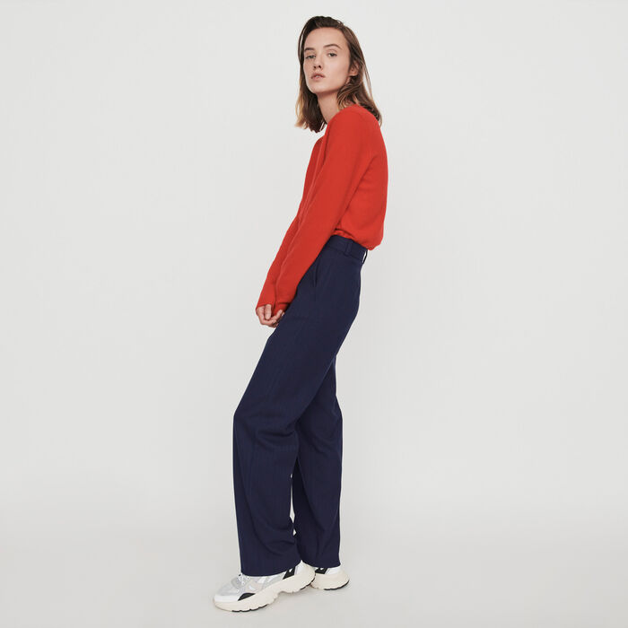 Gerade Hose mit Tennis Streifens : Hosen & Jeans farbe Marineblau