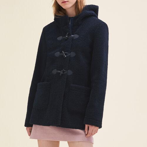 Duffle Coat aus Kunstpelz : Manteaux farbe Marineblau