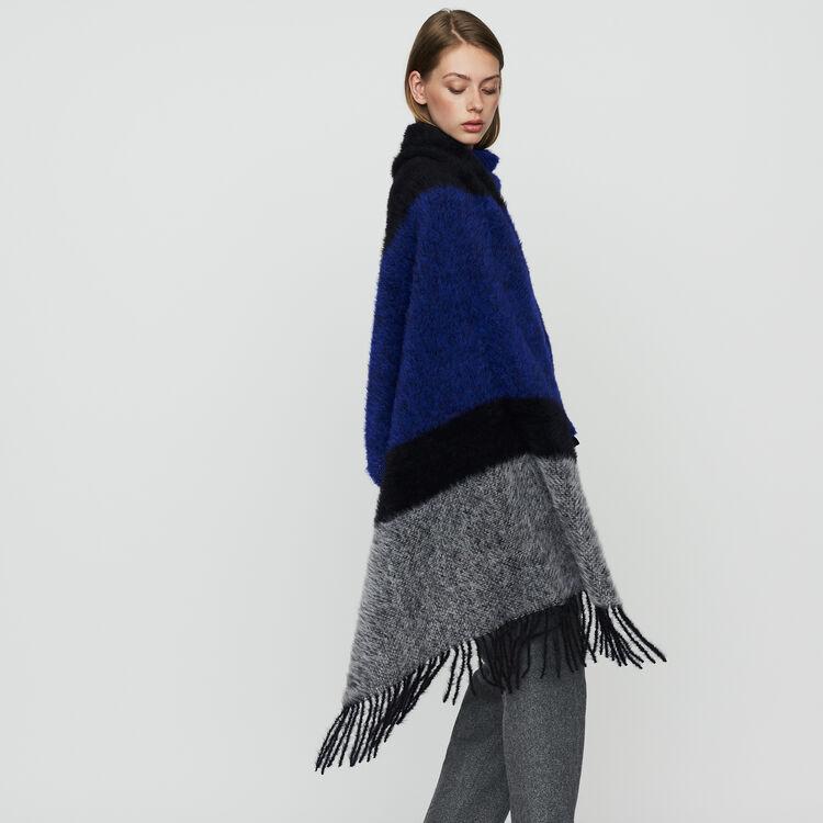 Echarpe en laine color block : Schals & Ponchos farbe Violett