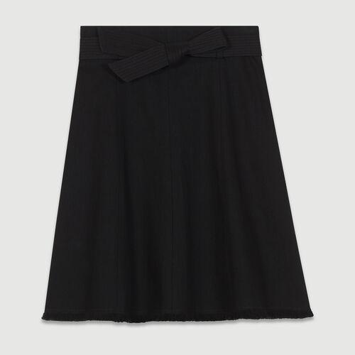 Glockenrock aus Denim : Röcke & Shorts farbe Schwarz