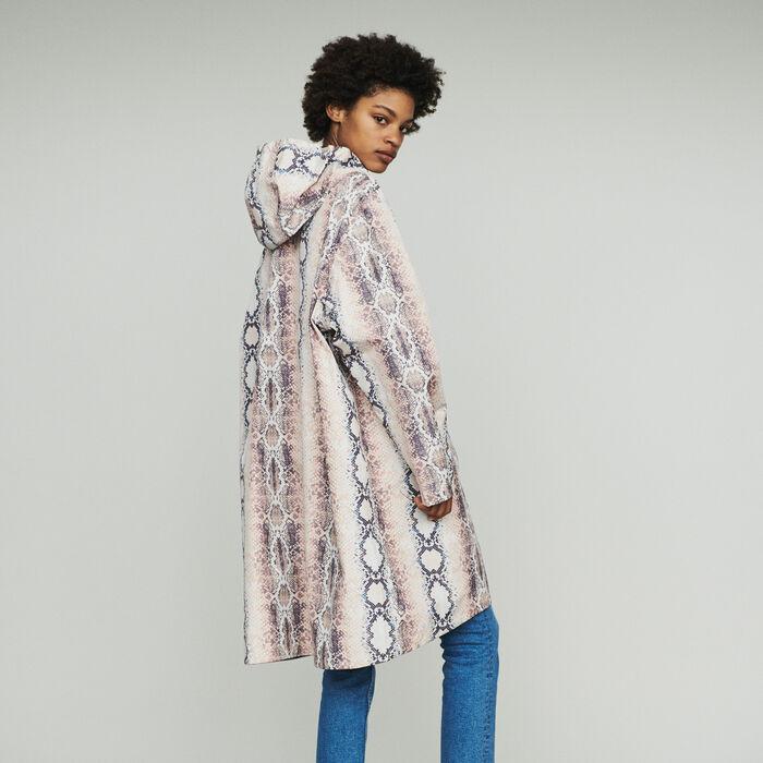 Windjacke mit Python-Print : Mäntel & Jacken farbe Imprime