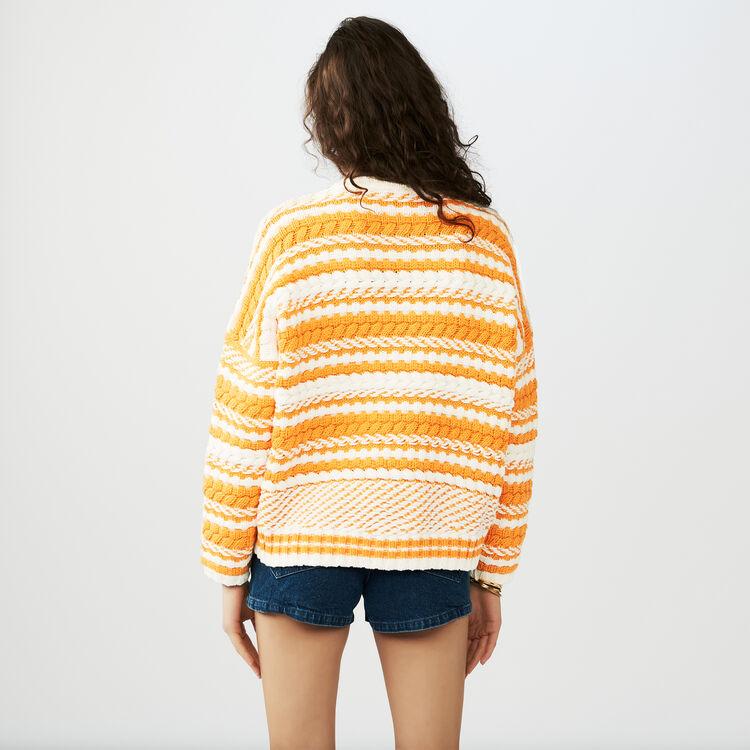 Zweifarbiger Oversize-Pullover : Strickwaren farbe Mehrfarbigen