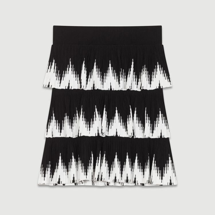 Gerade Jeans mit Fransen am Saum : Röcke & Shorts farbe Schwarz