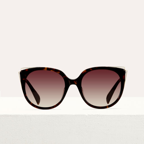 Sonnenbrille aus Metall und Acetat : See all farbe ECAILLE
