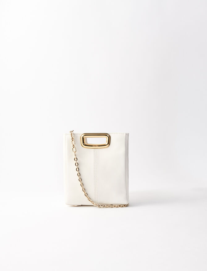 Mini leather and goldtone M Skin bag -  - MAJE