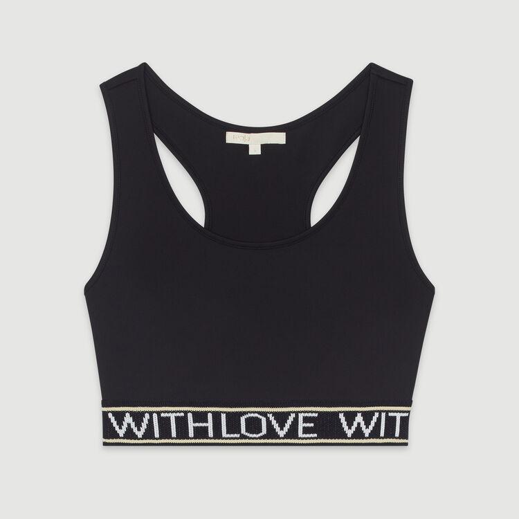 Sport-BH mit Aufschrift : T-Shirts farbe Schwarz