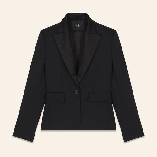 Kostümjacke aus Wollmix : Blousons & Vestes farbe Schwarz