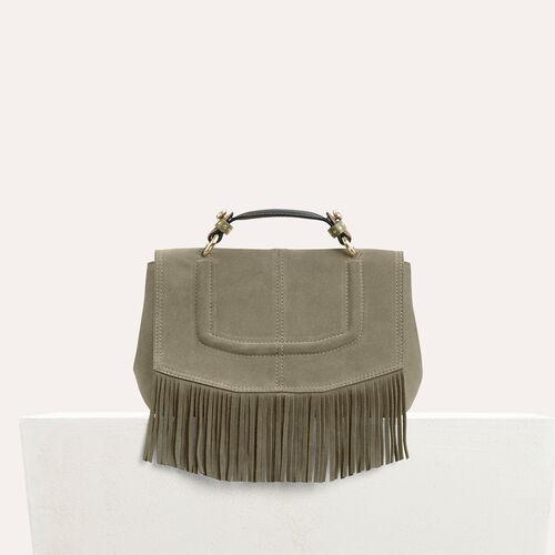 Mini Aktentasche mit Fransen : LDance Taschen farbe Khaki