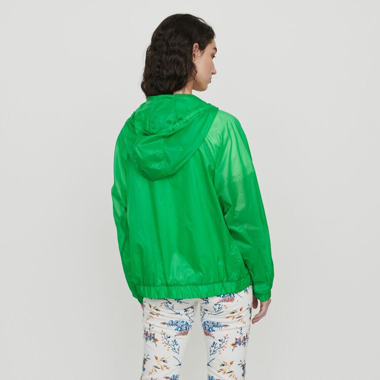 Leichte Windjacke mit Kapuze : Mäntel & Jacken farbe Grün